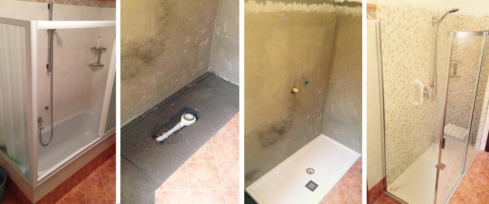 Sostituzione vasca con doccia brescia e provincia for Pannelli rivestimento doccia